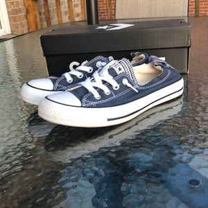 Converse Shoreline Slip on Navy size 8